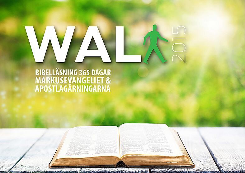 Här är Bibelläsningsplanen som är en del av WALK2105. Vi läser Markusevangeliet och Apostlagärningarna under 1 år.