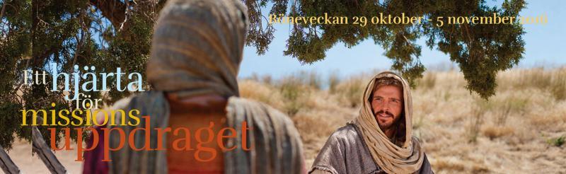 Missionsuppdraget - Jesus uppmaning att vi sprider de glada nyheterna om räddning - är tema för årets bönevecka. Här finns artiklar för båda stora och små!