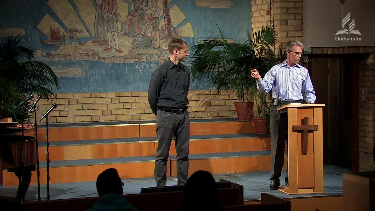 """Mark Howard från USA talade om """"Guds högsta syfte"""". Gud la redan i skapelsen sitt syfte i människan. Detta syfte kan vi söka i Bibeln och pastor Mark lyfter fram både vetenskapliga och profetiska bevis för Bibelns tillförlitlighet."""