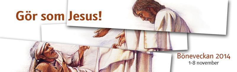 Hur fick Jesus kontakt med människor? Varför lämnde han dem friska, upprättade och förlåtna? Kan han göra likadant genom oss? Gör som Jesus gjorde är temat för årets bönevecka. För både barn och vuxna.