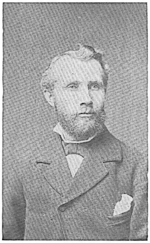 Jonas (John) Pehrsson Rosqvist (1851-1946) var till yrket skomakare. Bildtexten fortsätter i artikeln.