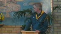 Scoutinvigning i Ekebyholms Adventkyrka.