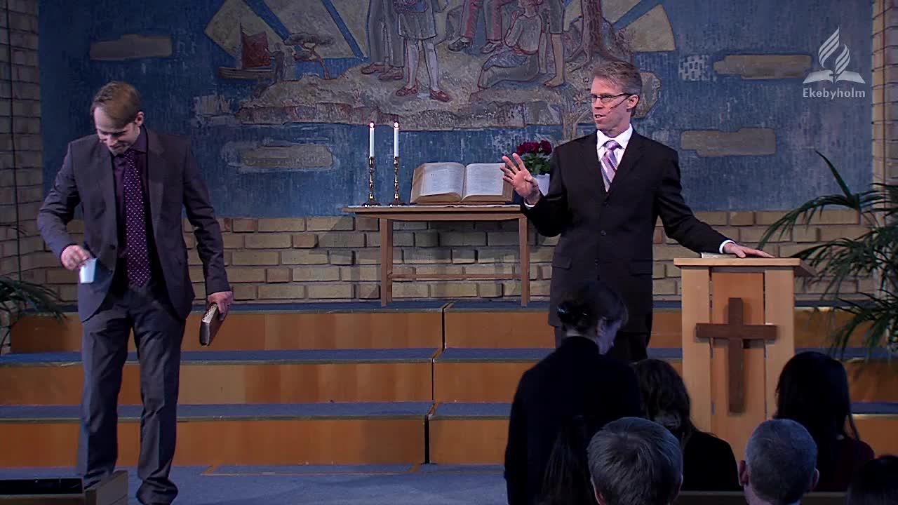 Denna Gudstjänst är avslutningen på Ekebyholms Temavecka.  Mark Howard är Pastor i Gobles Pinedale Seventh-day Adventist Church, samt MIDirector för Emmanuel Institute