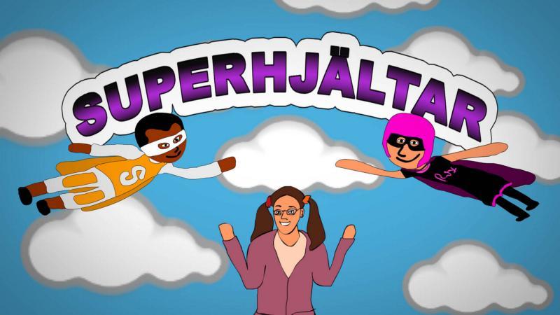 Superhjälten Duper får ett paket med en massa ord. Hennes kompis, Super, hjälper henne att förstå vad orden betyder.